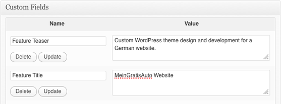 WordPress development adding custom fields